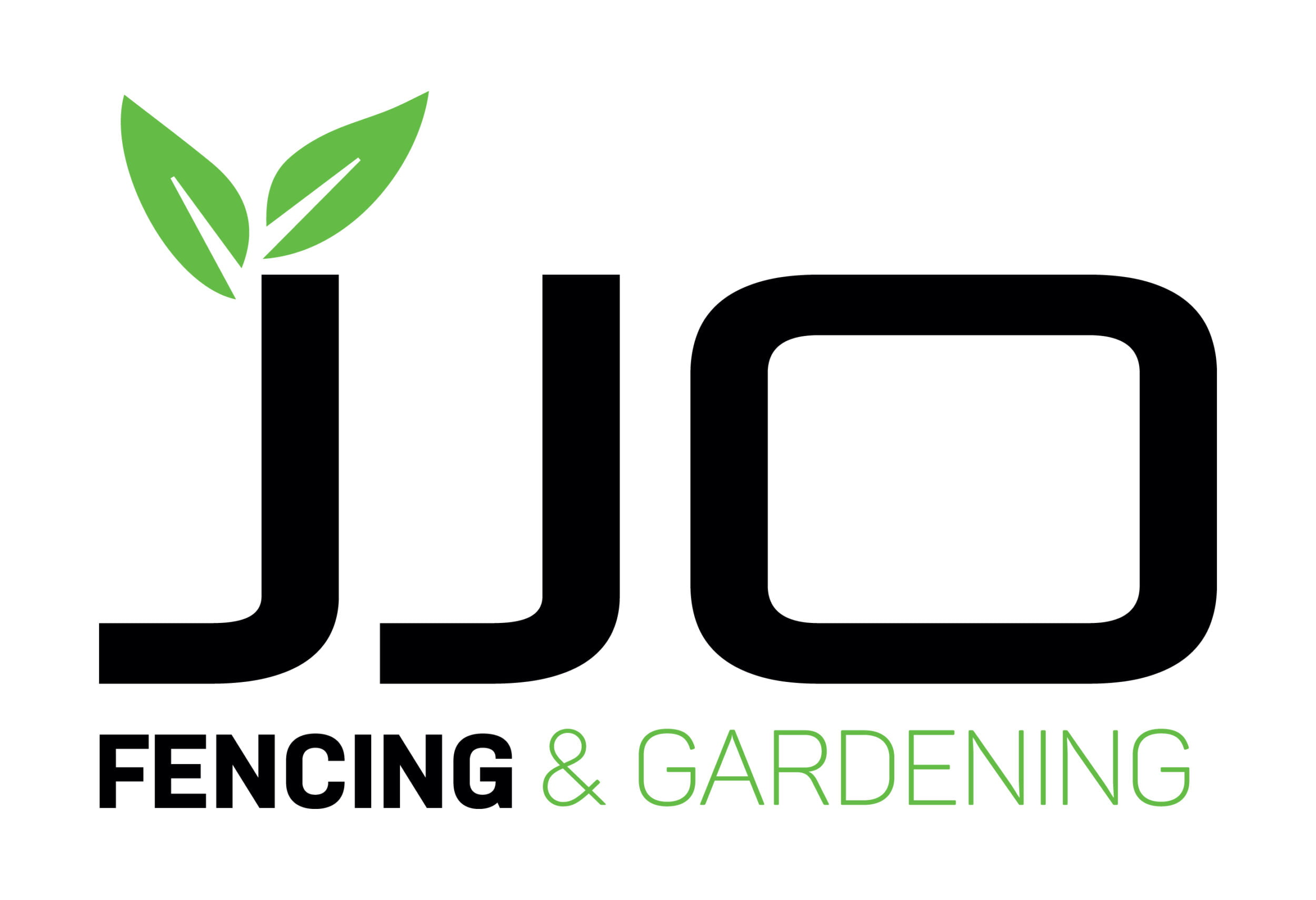 """""""JJO Fencing & Gardening"""" logo. JJO Fencing and Gardening Services Ltd, Fencing, Hedge Trimming, Fencing Suppliers, Fence Company, Grass Cutting, Warminster, Westbury, Frome"""